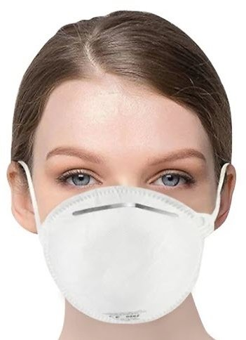1PC EU Standard FFP2 NR Disposable Respirator Mask With CE Certified Filter Efficiency 95% Above Easy Breath Comfortable Wear for Flu Protection PM 2.5 Anti-Virus Pollution Allergy Haze- White