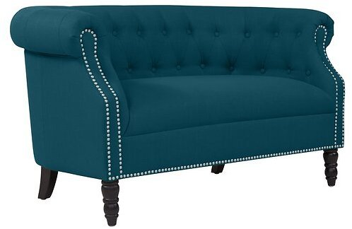 Quinones Chesterfield 54'' Rolled Arms Loveseat