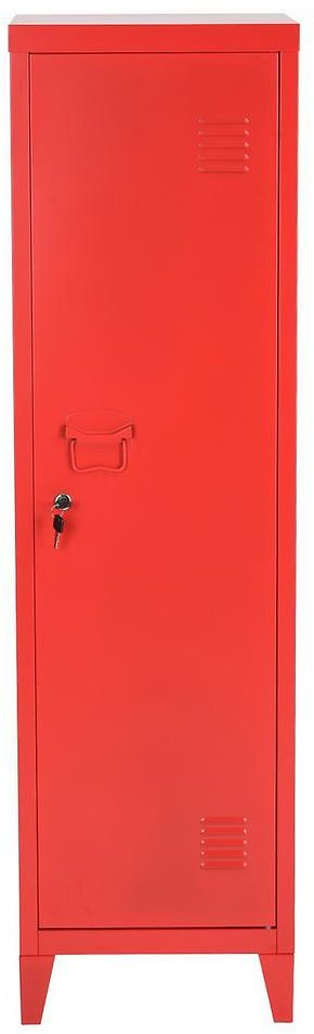 FurnitureR Councilbluffs 54 In. Red Metal Cabinet with Lock-COUNCILBLUFFS RED LT