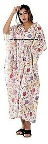 Floral Print Long Kaftan Women Maxi Dress Plus Size Clothing Evening Gown Dress
