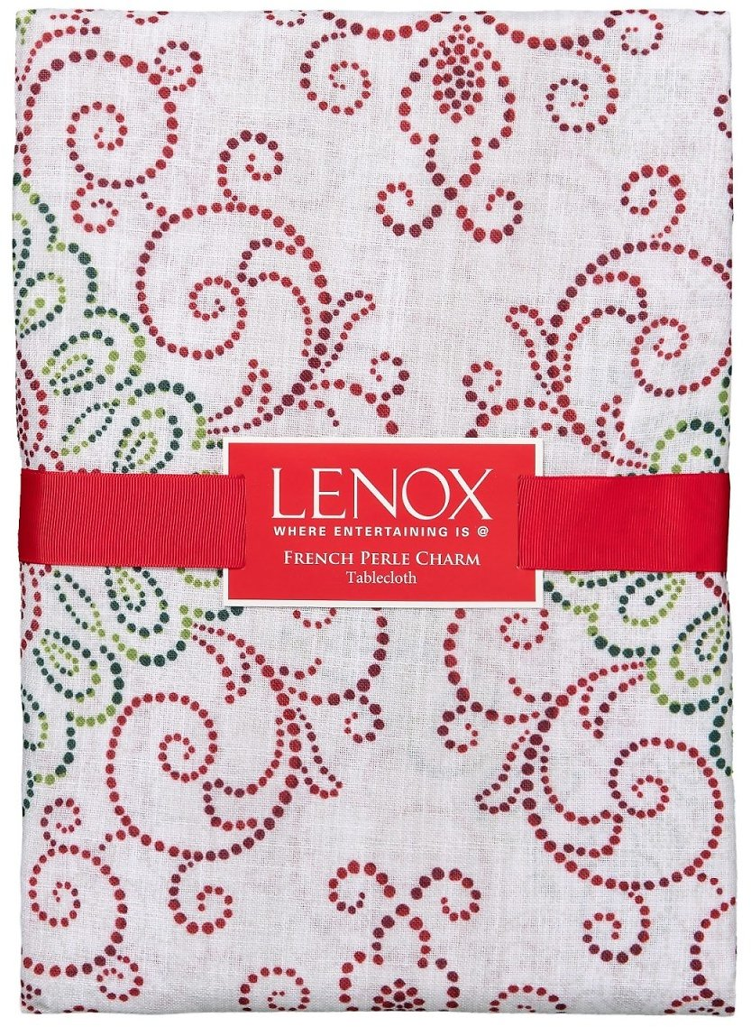 """Lenox French Perle Charm Rectangle Tablecloth - 60x102"""""""
