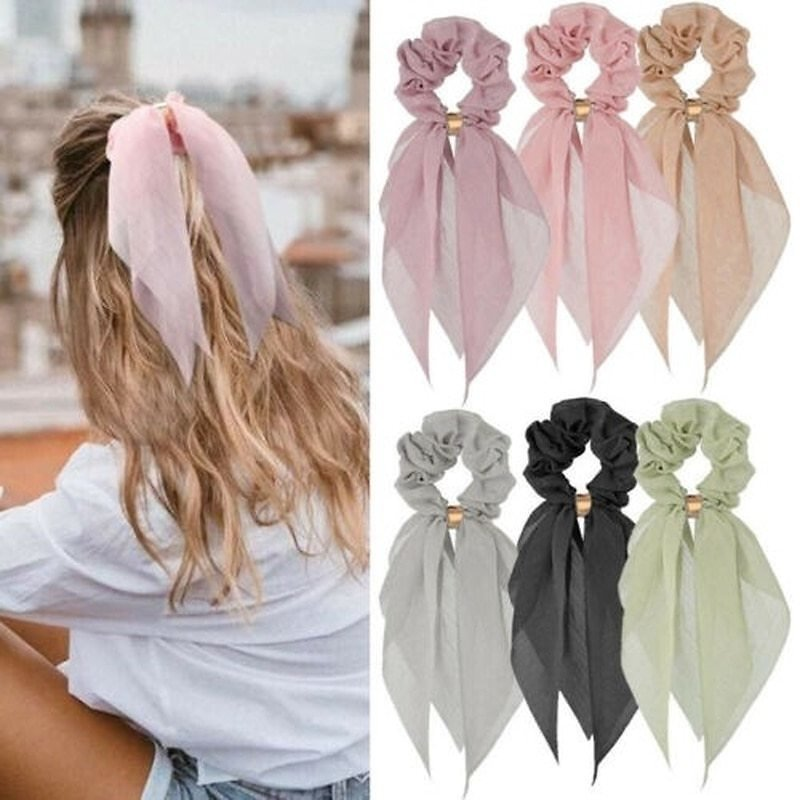 US $0.42 30% OFF|Candy Color Women Hair Scrunchie Bows Ponytail Holder Hairband Bow Knot Scrunchy Girls Hair Ties Hair Accessories Christmas|Women's Hair Accessories| - AliExpress