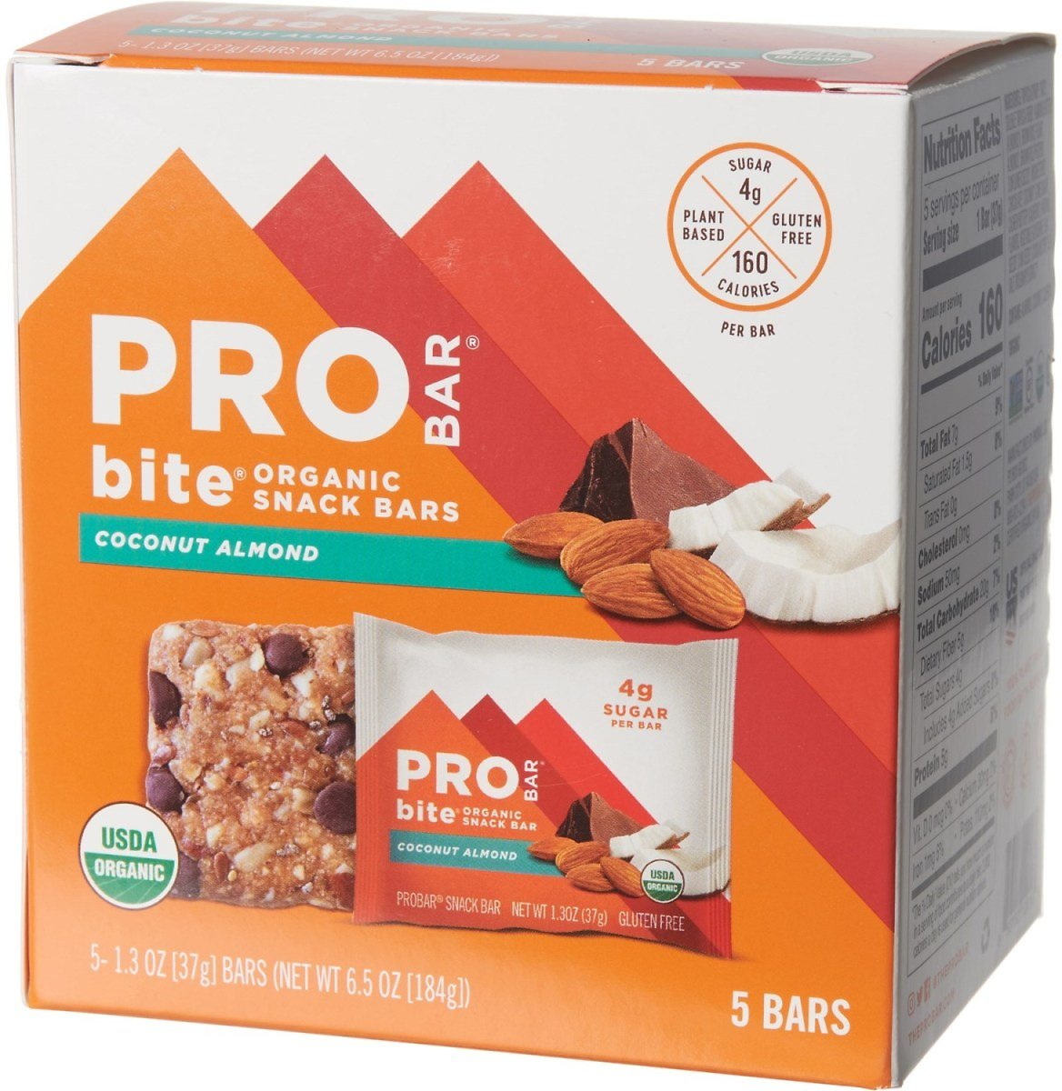 PROBAR Coconut Almond Bites Snack Bar - 5-Pack