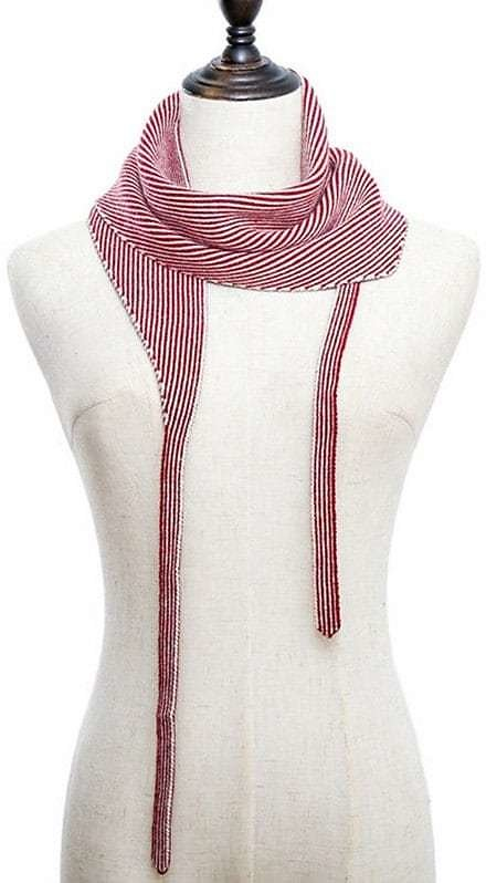 Striped Double Face Knitted Triangle Scarf