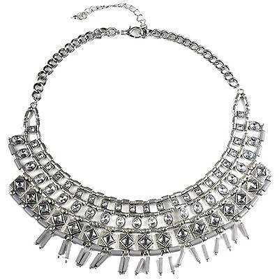 Fashionable Rhinestone Decorated Faux Collar Necklace For Women