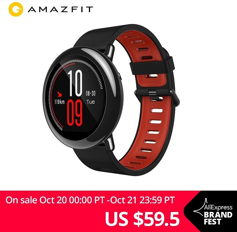 Amazfit Pace Smartwatch Amazfit Smart Watch Bluetooth Notification GPS Information Push Heart Rate Monitor for Android