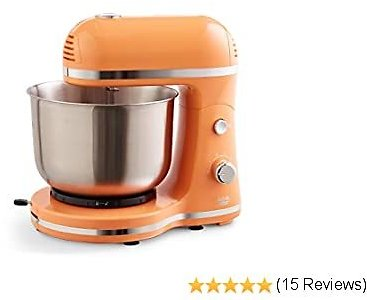 Delish By DASH Compact Stand Mixer 3.5 Quart with Beaters & Dough Hooks Included - Orange (DCSM350GB)