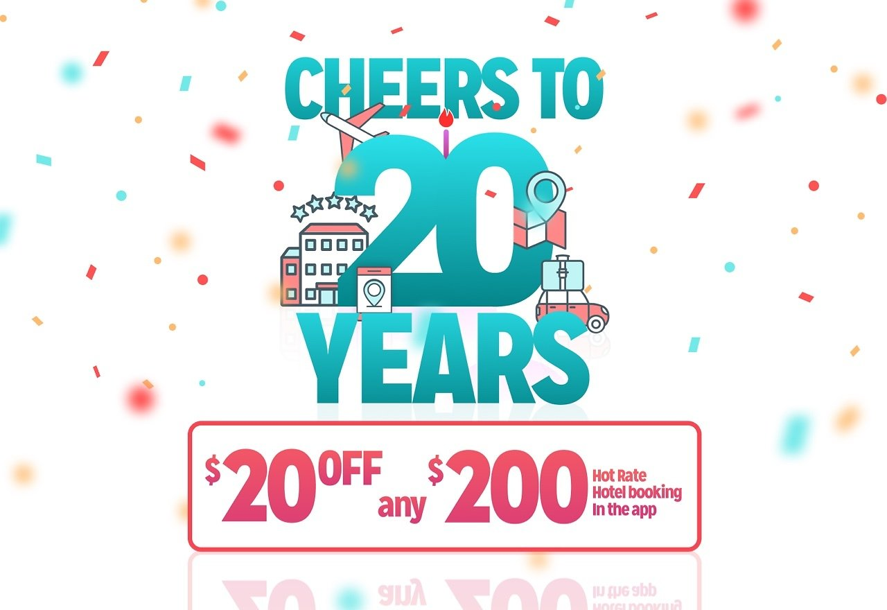$20 Off $200 With App - Hotwire