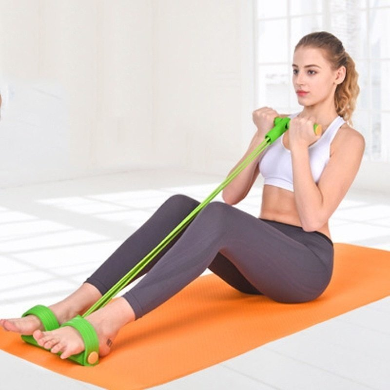 US $8.12 25% OFF Resistance Bands Weight Loss Fitness Equipment 4 Tube Tension Trainer Sports Foot Expander Chest Pull Leg Latex Rope Gymnastics Resistance Bands  - AliExpress