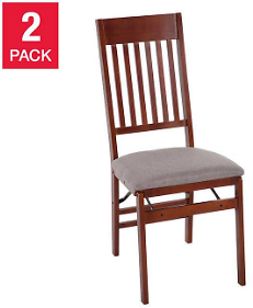 Mission Wood Folding Chairs, 2-pack