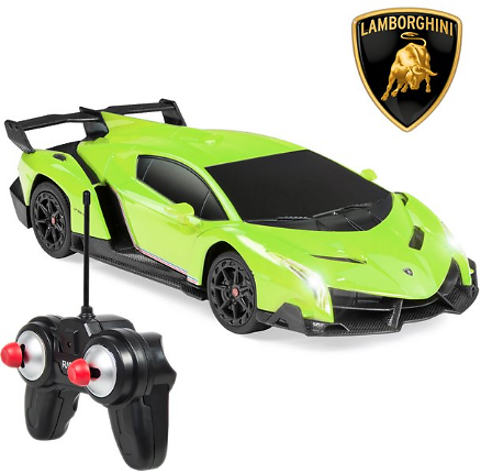 Best Choice Products 1/24 Scale RC Sport Racing Car w/ 27MHz Remote Control, Head and Taillights, Shock Suspension, Fine Tune Ad