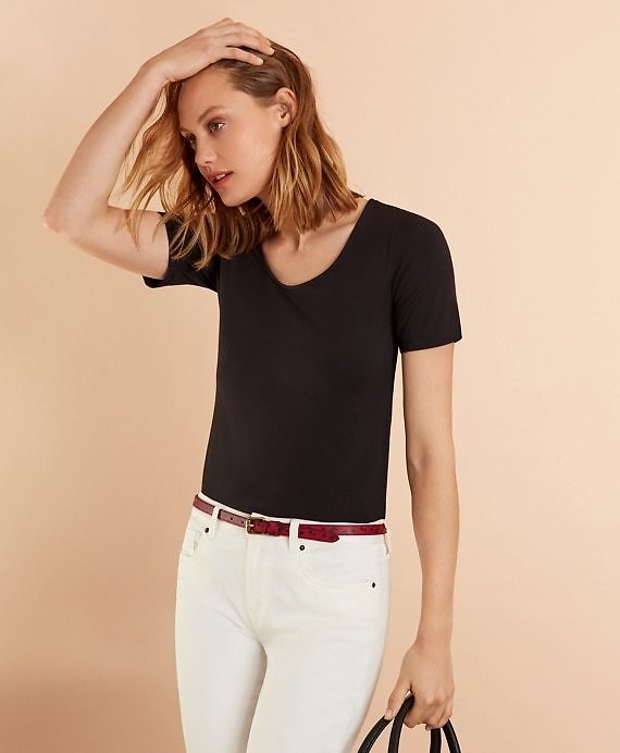 Scoop-Neck T-Shirt - Brooks Brothers