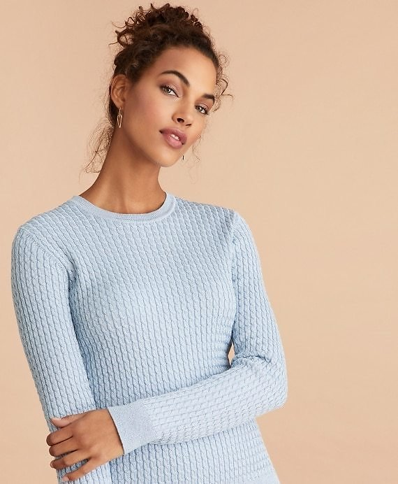 Shimmer-Knit Sweater - Brooks Brothers