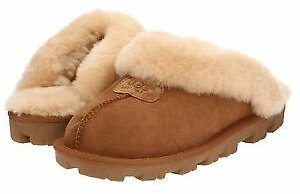 Women's Shoes UGG COQUETTE Sheepskin Slide Slippers 5125 CHESTNUT