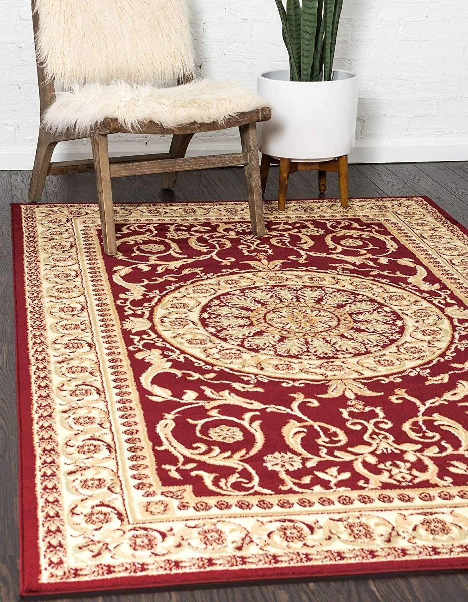Unique Loom Versailles Collection Traditional Classic Red Area Rug (8' 0 X 11' 4)