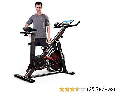 HARIOSN Indoor Cycling Exercise Bike Stationary Belt Drive Spin Bike for Home Cardio Gym Workout