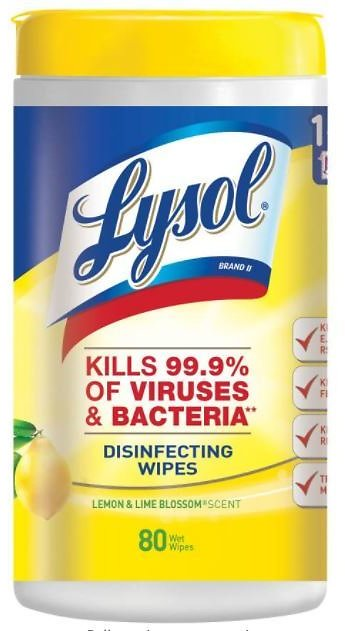 Lysol 80-Count Disinfecting Wipes!