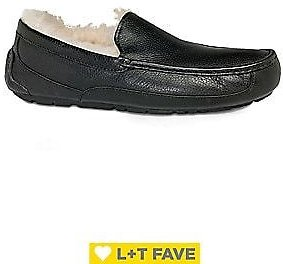UGG - Men's Ascot UGGpure-Lined Leather Slippers