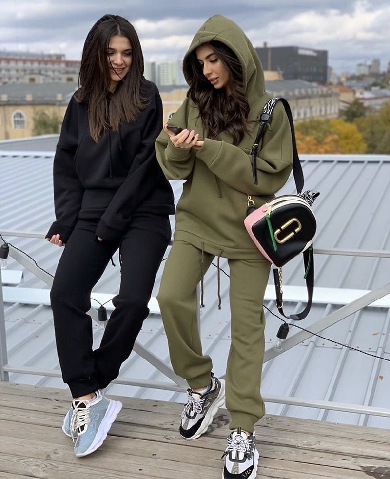 US $5.54 50% OFF|2020 Two Piece Set Outfits Autumn Women's Tracksuit Oversized Hoodie And Pants Casual Sport Suit Winter 2 Piece Woman Set|Women's Sets| - AliExpress