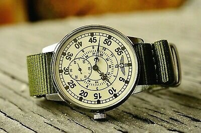 Pobeda Pilot Wings ZIM Men's Mechanical Wrist Watch Soviet USSR MILITARY