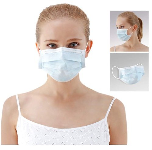 50-Count 3-Ply Medical Face Mask
