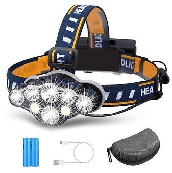 OUTERDO 3300LM 8Modes 8LED Rechargeable Headlamp Flashlight with USB Cable 2 Batteries, Waterproof LED Head Torch Head Light with Red Light for Camping Fishing Car Repair OutdoorBike & BicyclefromSports & Outdooron Banggood