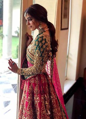 INDIAN PAKISTANI BRIDAL LEHENGA CHOLI WEDDING PARTY FANCY DESIGNER LENGHA DRESS