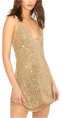 Free People Gold Rush Mini Dress