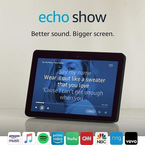 Amazon Echo Show (2nd Gen) - Smart Speaker with Alexa and Built in Smart Home Hub - Charcoal Lowes.com