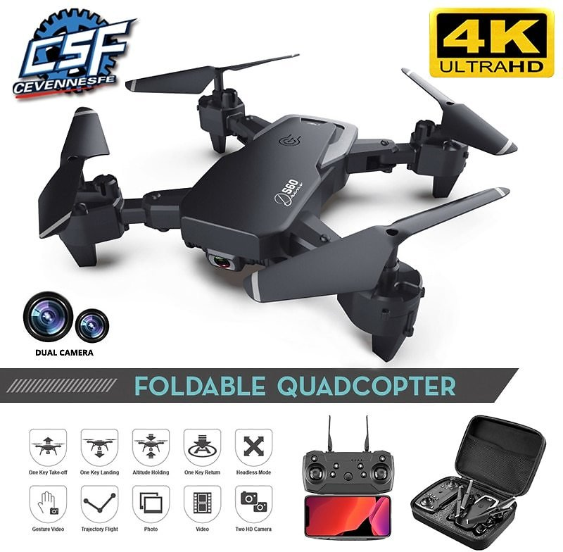 2020 NEW Drone 4k HD Wide Angle Camera 1080P WiFi Fpv Drone Dual Camera Quadcopter Height Keep Drone Camera Drone Helicopter Toy