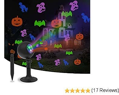 Halloween Lights Outdoor Decorations Projector Show LED Indoor Pumpkin Projection Outside Spotlight for Holiday House Yard Garden Party Decorations