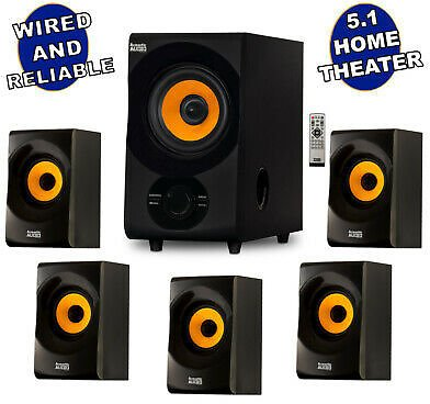 Acoustic Audio Home Theater 5.1 Bluetooth Speaker System with FM Tuner NEW 849155021450