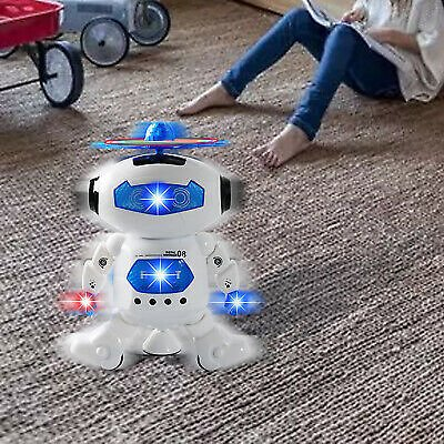 Electronic Walking Dancing Robot Toys for Kids Little Robot with Music LED Light 710670874442