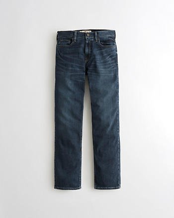 Guys Classic Straight Jeans | Guys Bottoms | HollisterCo.com