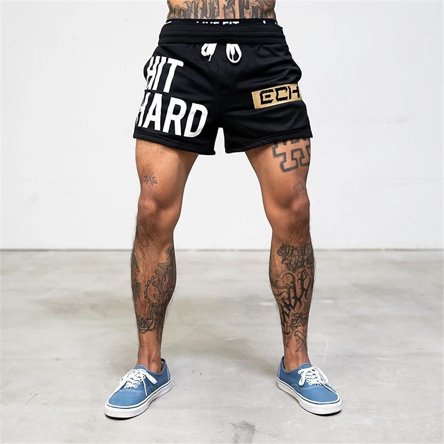 US $6.99 55% OFF|Summer Men Shorts Men's Casual Shorts Fitness Exercise Beach Shorts Breathable Mesh Shorts Jogger Men's Brand Shorts|Casual Shorts| - AliExpress