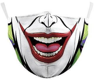 Adult Clown Mouth Face Mask Face Covering Reusable Washable