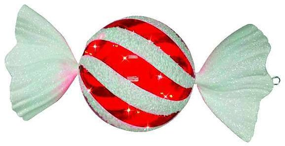 Celebrations Battery Red/White LED Striped Candy Christmas Decoration