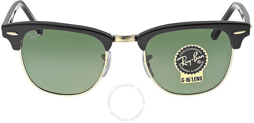 Ray-Ban Clubmaster Black 49 Mm Sunglasses RB3016-W0365-49