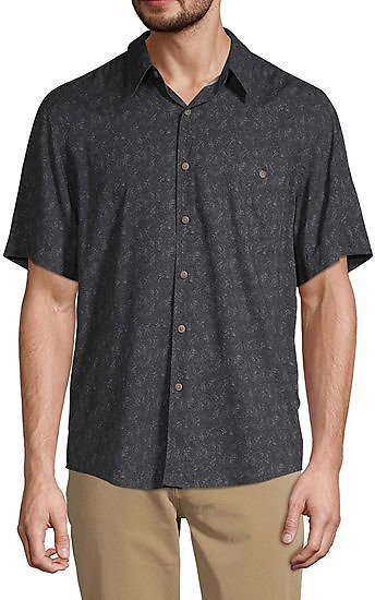 Campia Untuck Mens Short Sleeve Button-Down Shirt