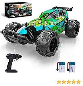 Remote Control Car, DEERC RC Cars Stunt Car Toy, 2.4Ghz 20 KM/H High Speed Racing RC Car with 2 Rechargeable Batteries for 60 Min Play, Kids Xmas Toy Cars for Boys/Girls