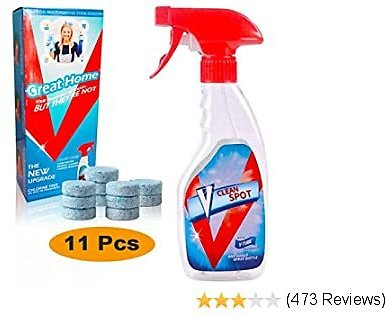 Multi Effervescent Spray Cleaner Set with 11PCS Fine Concentrated Solid All Purpose Effervescent Spray Cleaner