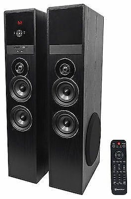 Rockville TM80B Black Home Theater System Tower Speakers 8