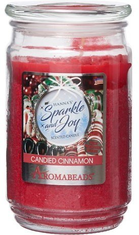 Hanna's Candied Cinnamon Aromabeads® Scented Candle - 15 Oz.