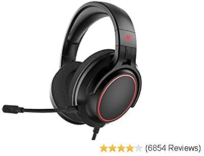 NUBWO N20 Stereo Gaming Headset with Detachable Noise Canceling Mic, Work from Home Headphones with Mic for PS4, Xbox One, Nintendo Switch Lite, PC, Laptop, Mac