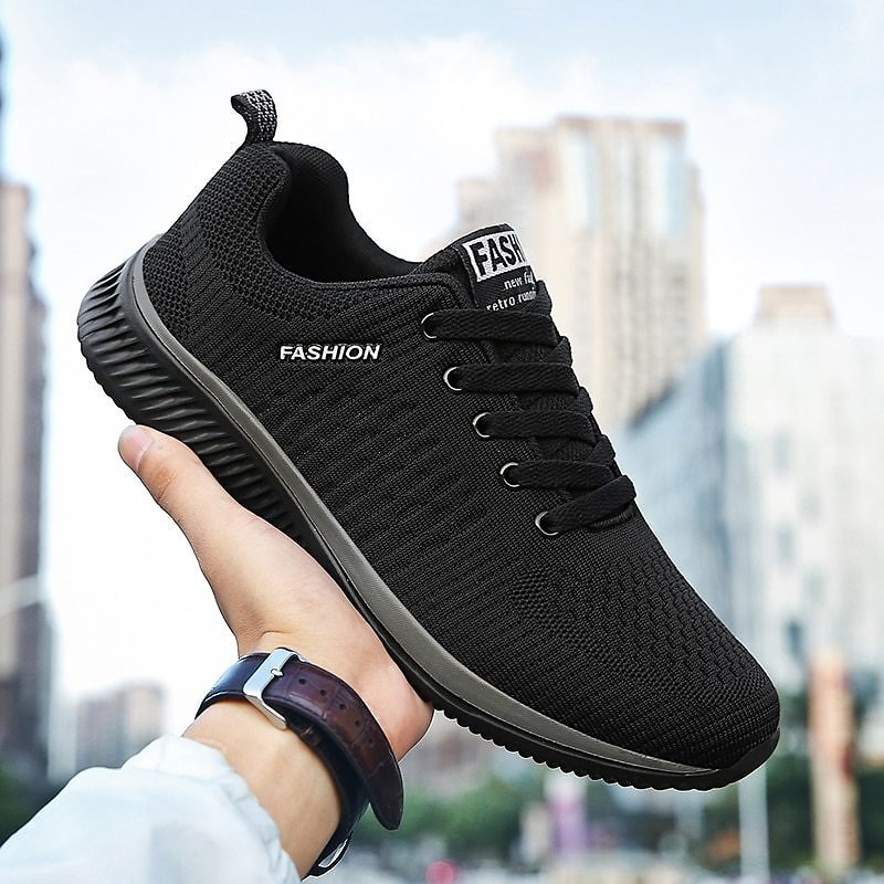 US $14.84 1% OFF MFOXIZCU Shoes Men's Sneakers Running Four Season Mesh Flat Casual Comfortable Lightweight Breathable Walking Outdoor Large Running Shoes  - AliExpress