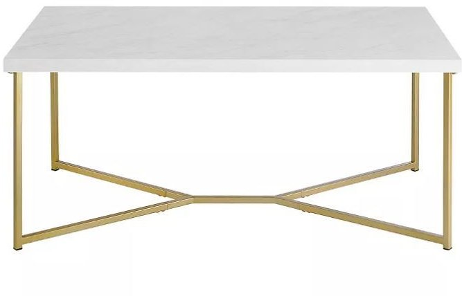 25% OFF | Glam Mid Century Modern Y Leg Rectangle Coffee Table - Saracina Home | Target