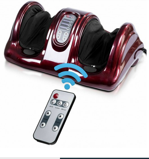 Therapeutic Shiatsu Foot Massager Kneading and Rolling with High Intensity Rollers