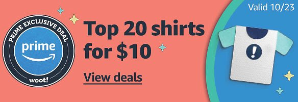 Today only! 20 Shirts for $10 - Woot