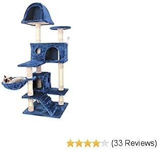 :65% OFF ON | CUPETS Cat Tree Pet Furniture Cat Condo with House,Cat Scratching Post Indoor for Cats and Kittens By Using Code