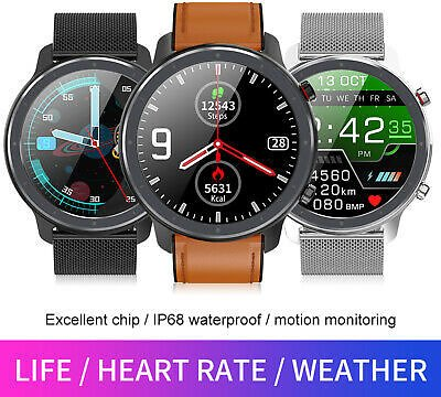 NEW! 2020 Microwear L17 Smart Watch Sports ECG Heart Rate Blood Pressure Fitness